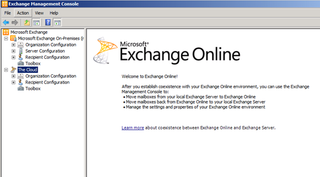 Office 365 Exchange Management Console